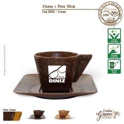 305G Xícara Café com Pires 50ml Green