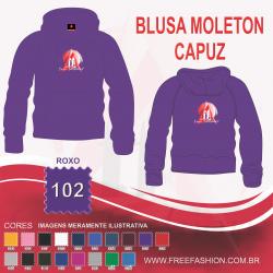 0102C BLUSA MOLETON FLANELADO COM CAPUZ ROXO
