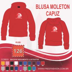 0126C BLUSA MOLETON FLANELADO COM CAPUZ RUBI