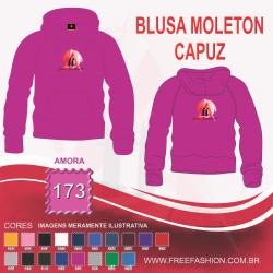 0173C BLUSA MOLETON FLANELADO COM CAPUZ AMORA
