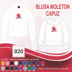 0020C BLUSA MOLETON FLANELADO COM CAPUZ BRANCO