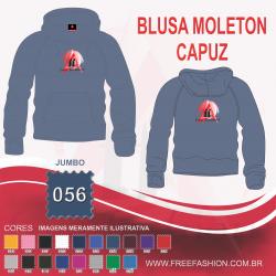 0056C BLUSA MOLETON FLANELADO COM CAPUZ JUMBO