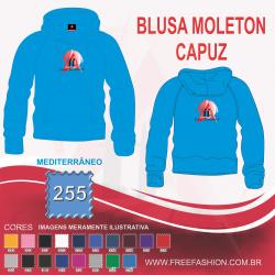 0255C BLUSA MOLETON FLANELADO COM CAPUZ MEDITERRANEO