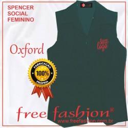 0003 SPENCER/COLETE FEMININO OXFORD SEM MANGA