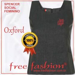 0004 SPENCER/COLETE FEMININO OXFORD DECOTE QUADRADO SEM MANGA