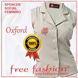 0006-O SPENCER/COLETE FEMININO OXFORD GOLA SPORT SEM MANGA