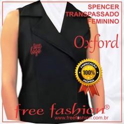 0007-O SPENCER/COLETE FEMININO OXFORD TRANSPASSADO COM ZIPER