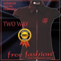 0010-TW SPENCER/COLETE FEMININO TWO WAY GOLA BLAZER MANGA JAPONESA SPORT
