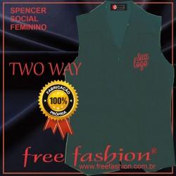 0012-TW SPENCER/COLETE FEMININO TWO WAY SEM MANGA GOLA BLASER