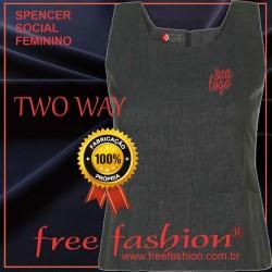 0013-TW SPENCER/COLETE FEMININO TWO WAY DECOTE QUADRADO SEM MANGA