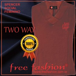 0014-TW SPENCER/COLETE FEMININO TWU WAY GOLA V SEM MANGA