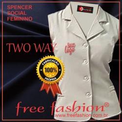 0015-TW SPENCER/COLETE FEMINIO TWO WAY GOLA SPORT SEM MANGA