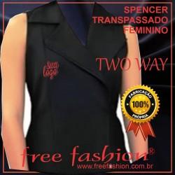 0016-TW SPENCER/COLETE FEMININO TWU WAY TRANSPASSADO COM ZIPER