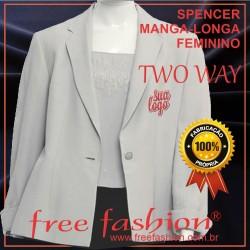 0018-TW SPENCER/COLETE FEMININO TWU WAY MANGA LONGA