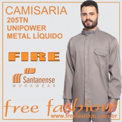 205TN UNIPOWER METAL LÍQUIDO CAMISA PROFISSINAL FIRE ANTI CHAMAS