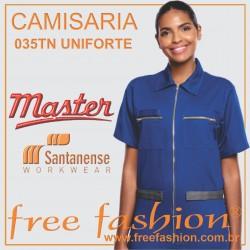 035TN UNIFORTE CAMISA PROFISSIONAL UNISEX
