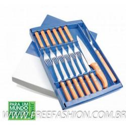 FQ-14103 - Faqueiro Inox/Bambu Special