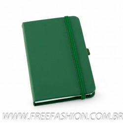 93492 Caderno capa dura, Couro sintético com Porta Esferográfica.