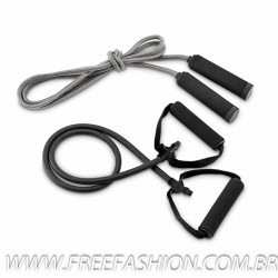 98086 Kit fitness elástico e corda de pular