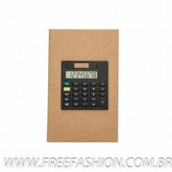 12520 Bloco de anotações com calculadora.