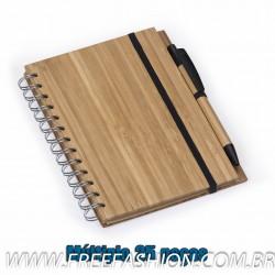 12695 Bloco de Anotação com Caneta Bambu