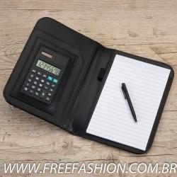 1610 bloco de anotações com calculadora e caneta