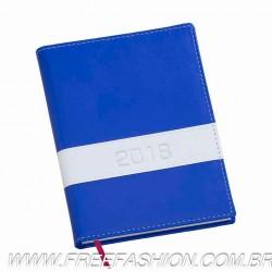 137 Agenda Diária Capa Horizontal Azul