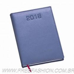 180 Agenda Diária Capa Metalizada Lisa Azul