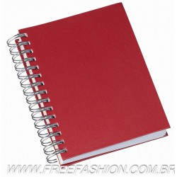 285 Agenda Wire-o Metalizada Lisa Vermelha - Capa Percalux