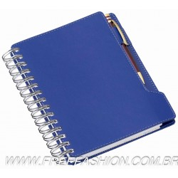 288 Agenda Wire-o de Mesa Azul