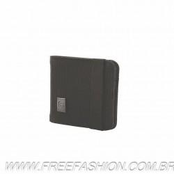 31172501 Carteira Bi-fold Nylon Preto .
