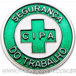 002 - BOTTON CIPA SEGURANÇA DO TRABALHO 25 MM