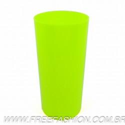 0320 Long Drink Economico 320 Amarelo Fluor Solido