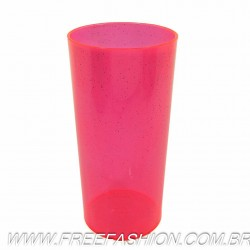 0320G Long Drink Economico 320 ML Rosa Neon Glitter