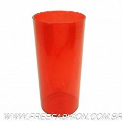 0320G Long Drink Economico 320 ML Vermelho Glitter