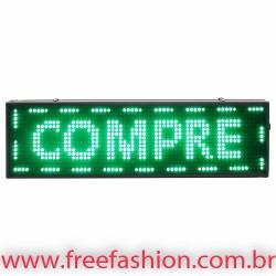 6820 Painel De LED, Letreiro Digital 68cm x 20cm Alto Brilho USB USO EXTERNO