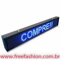 13523 Painel De LED, Letreiro Digital 135cm x 23cm Alto Brilho USB USO INTERNO