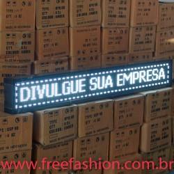 16723 Painel De LED, Letreiro Digital 167cm x 23cm Alto Brilho USB USO INTERNO