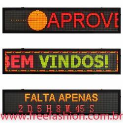 16740 Painel De LED, Letreiro Digital 167cm x 40cm Alto Brilho USB USO INTERNO